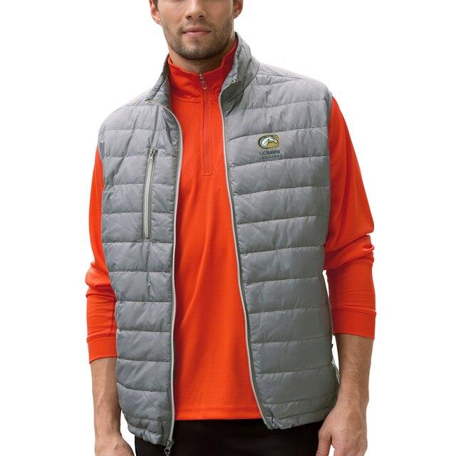 UC Davis Aggies Gray Apex Compressible Quilted Vest メンズ