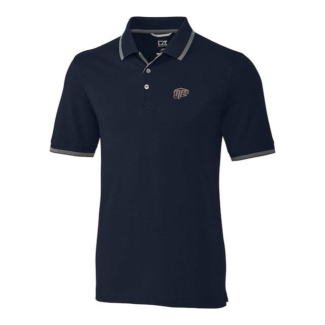 Cutter & Buck Texas El Paso Miners Navy Big & Tall Advantage Tipped Polo メンズ