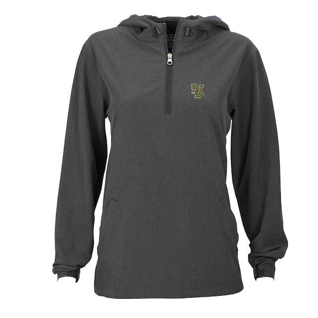 Vermont Catamounts Women's Charcoal Pullover Stretch Anorak Jacket ユニセックス