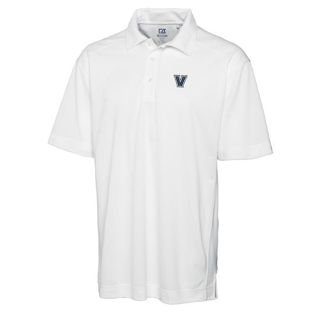 Cutter & Buck Villanova Wildcats White Big & Tall DryTec Genre Polo メンズ