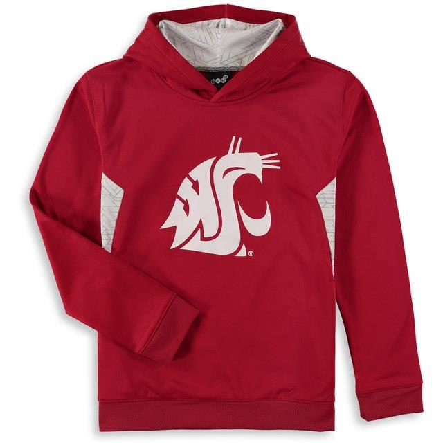 Washington State Cougars Youth Crimson Shattered Poly Pullover Hoodie キッズ
