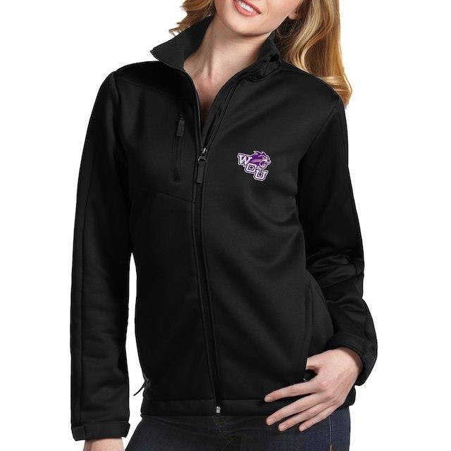 アンティグア Antigua Western Carolina Catamounts Women's Black Traverse Full-Zip Jacket ユニセックス