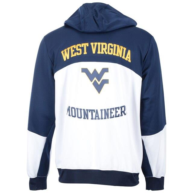 Fanatics Authentic West Virginia Mountaineers Team-Issued White and Navy Hoodie ユニセックス