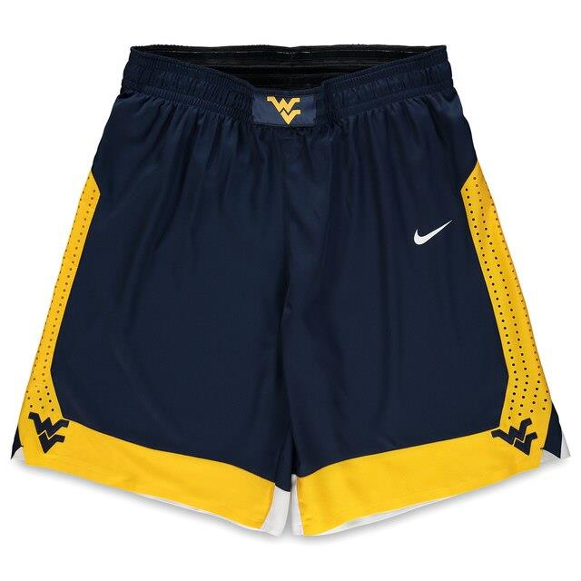 Fanatics Authentic West Virginia Mountaineers Team-Issued Navy and Gold Shorts from the 2016-17 Basketball Season - Size 40