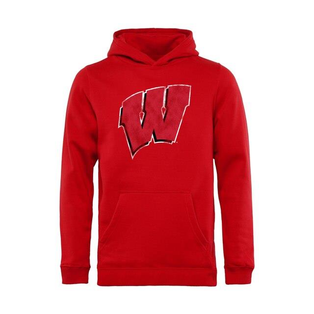Wisconsin Badgers Youth Red Classic Primary Pullover Hoodie キッズ