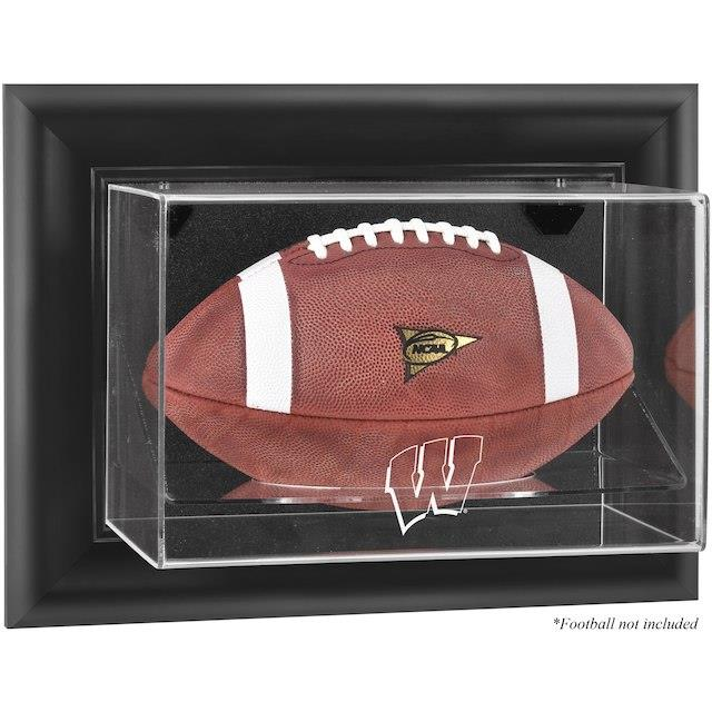 Fanatics Authentic Wisconsin Badgers Black Framed Wall-Mountable Football Display Case ユニセックス