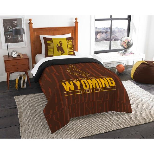 The Northwest Company Wyoming Cowboys Modern Take Twin Comforter Set ユニセックス
