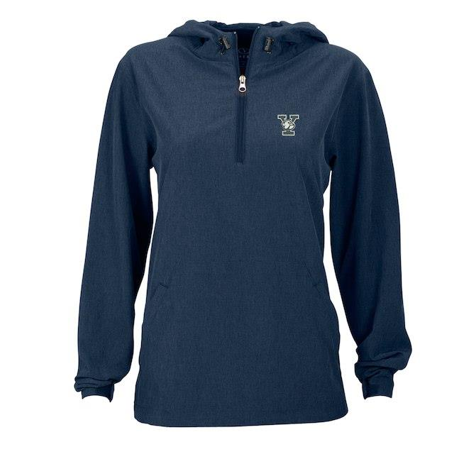 Yale Bulldogs Women's Navy Pullover Stretch Anorak Jacket ユニセックス