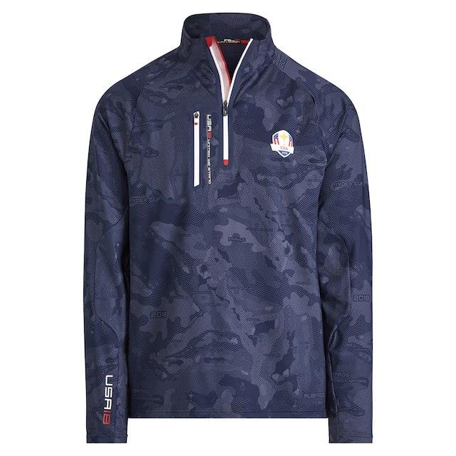 RLX RLX Navy/Camo 2018 Ryder Cup Official Brushed Back Golf Course Half-Zip Pullover Jacket メンズ