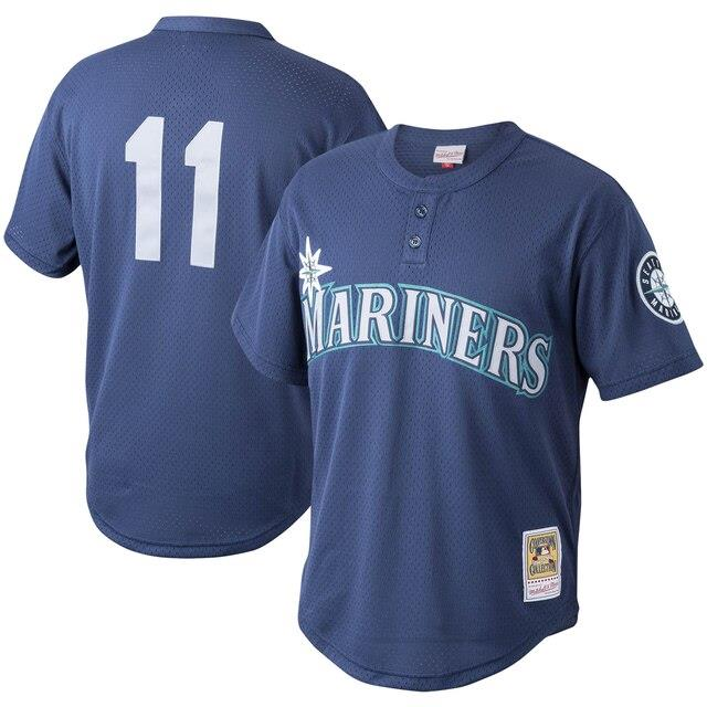 ミッチェルアンドネス Mitchell & Ness Edgar Martinez Seattle Mariners Navy Cooperstown Collection Mesh Batting Practice Jersey メンズ