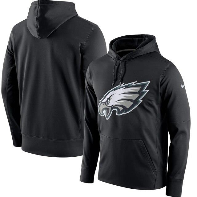 ナイキ Nike Philadelphia Eagles Black Circuit Logo Essential Performance Pullover Hoodie メンズ