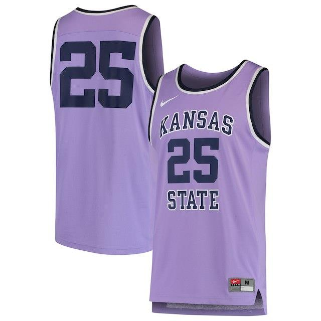ナイキ Nike #25 Kansas State Wildcats Purple Replica Basketball Jersey メンズ