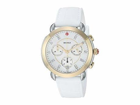 ミシェル レディース 腕時計 Sidney Two-Tone and White Silicone Diamond Dial Watch