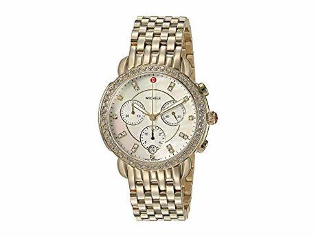 ミシェル レディース 腕時計 Sidney Diamond Bezel Gold Plated Stainless Steel Watch