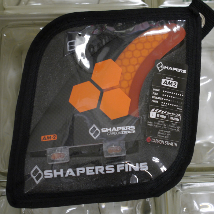 【Shapers Fin】AM2 Carbon Stelth 5Fin FCS Box 【5 Fin】シェイパーズフィン AM2 Carbon Stelth 5フィン