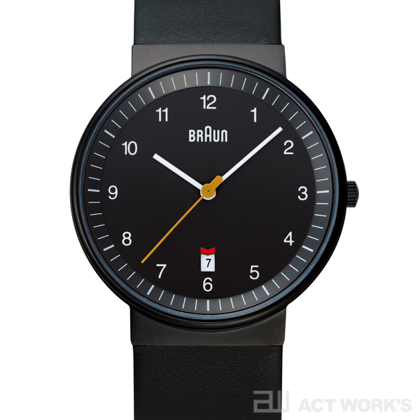 BRAUN BNH0032 leather 腕時計(黒) レザー ブラウン【時計 リストウォッチ とけい ベルト メンズ レディース 防水 アナログ 表示】