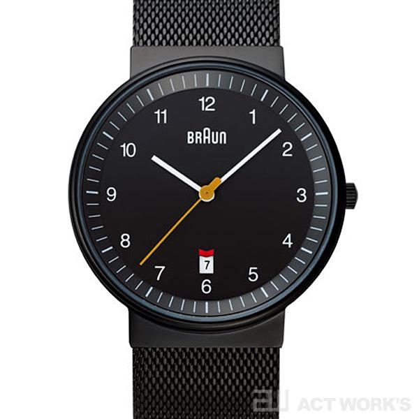 BRAUN BNH0032 mesh 腕時計(黒) メッシュ ブラウン【時計 リストウォッチ とけい ベルト メンズ レディース 防水 アナログ 表示】