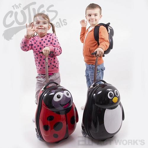《全4色》CUTIES and pals トローリー&バックパックセット 【キューティズ&パルス キャリーバッグ 子供 キッズ 旅行 お出掛け】