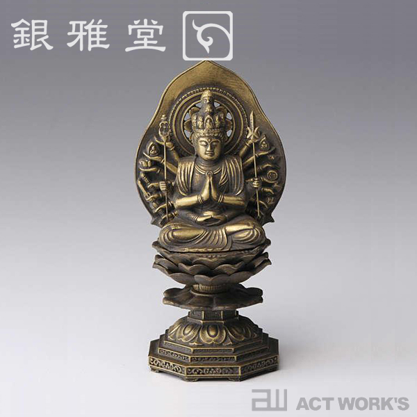 《全8種》銀雅堂 十二支のお守本尊 15cm 八体仏 【干支 日本製 高岡銅器 インテリア 和風】