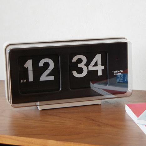 TWEMCO トゥエンコ 置き掛け兼用パタパタ時計 BQ-50
