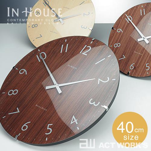 《全3色》IN HOUSE Dome Clock 40cm ドームクロック NW30 【インハウス 壁掛け時計 ウォールクロック 英国 イングランドデザイン】