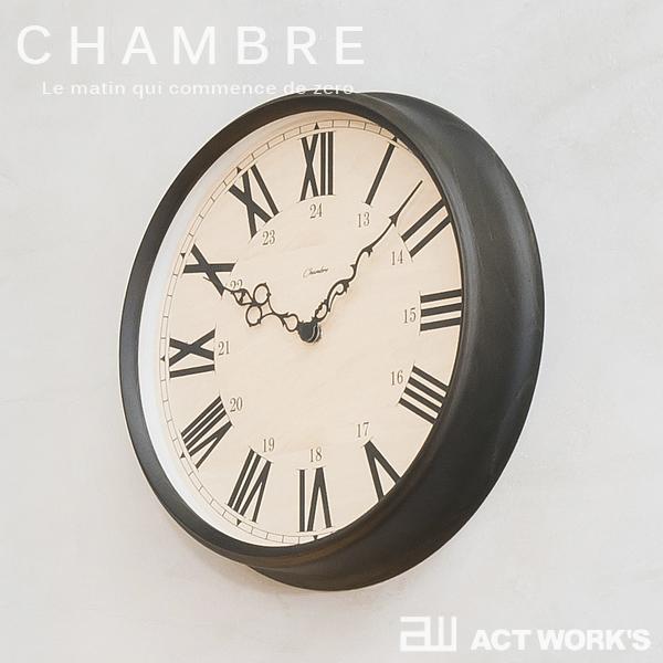 《全2色》CHAMBRE BRITISH ROMAN CLOCK 掛け時計 ブリティッシュローマンクロック 【シャンブル デザイン雑貨 壁掛け時計 インテアリア 北欧 interzero インターゼロ ウォールクロック】