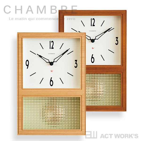 《全2色》CHAMBRE GLASS PENDULUM CLOCK 掛け時計 グラスペンデュラムクロック 振り子時計 【シャンブル デザイン雑貨 壁掛け時計 インテアリア 北欧 interzero インターゼロ ウォールクロック】