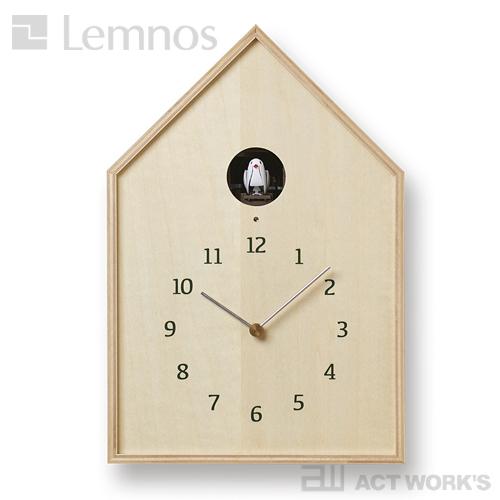 《全2色》LEMNOS Birdhouse Clock カッコー時計 バードハウスクロック 【タカタレムノス デザイン雑貨 掛け時計 クロック シンプル インテリア 壁時計 リビング 鳩時計 ハト時計 玄関 子供部屋 寝室 北欧】