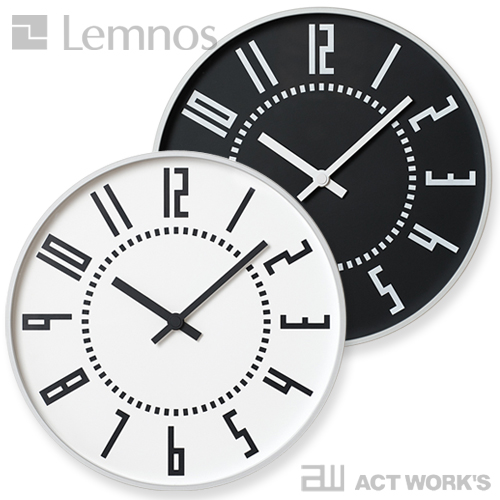 《全2色》LEMNOS eki clock エキクロック 【タカタレムノス デザイン雑貨 壁掛け時計 ウォールクロック シンプル インテリア 壁時計 北欧】
