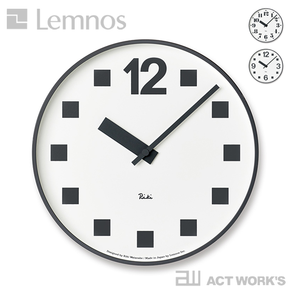 《全3種》LEMNOS RIKI PUBLIC CLOCK 掛け時計 【タカタレムノス デザイン雑貨 ウォールクロック 壁掛時計 クロック シンプル インテリア 壁時計 リキ パブリッククロック 北欧 渡辺力 リキクロック】