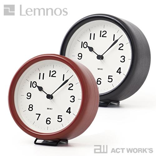 《全2色》LEMNOS MIKI URUSHI 置き時計 掛け時計 ミキ ウルシ 【タカタレムノス デザイン雑貨 壁掛け時計 インテアリア 漆塗り 北欧】