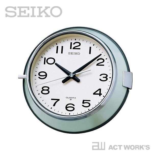 SEIKO 防塵型クォーツ掛時計 KS474M 【セイコー 壁掛け時計 掛け時計 デザイン雑貨 インテリア オフィス ノーサイドゲーム シンプル バス時計 船時計 船舶時計 ウォールクロック】