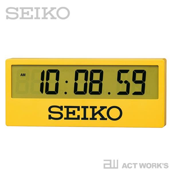 SEIKO スポーツタイマークロック SQ816Y 【セイコー 壁掛け時計 掛け時計 デザイン雑貨 インテリア オフィス 置時計 シンプル 置き時計 陸上競技場 ウォールクロック】