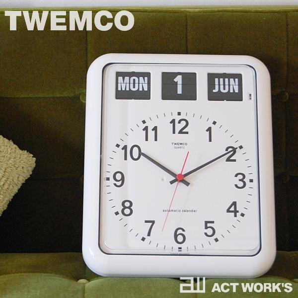 《全2色》TWEMCO BQ-12A パタパタ時計 【トゥエンコ トゥエムコ デザイン雑貨 掛時計 かけ時計 とけい 壁掛け 置時計 置き時計 アナログ 表示 オフィス 店舗 北欧 BQ-12A カレンダー時計】