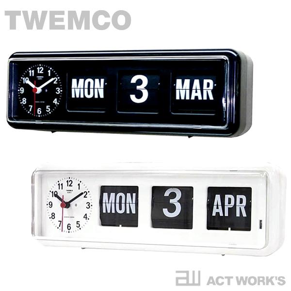《全2色》TWEMCO カレンダー時計 BQ-38 置き掛け時計 【トゥエンコ トゥエムコ デザイン雑貨 掛時計 かけ時計 とけい 壁掛け パタパタ デジタル 表示 オフィス 店舗 北欧 置時計 ウォールクロック】