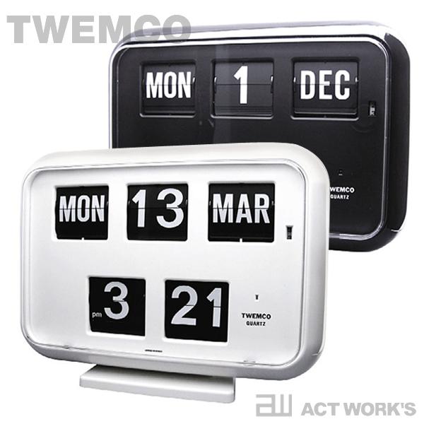《全2色》TWEMCO カレンダー時計 QD-35 置き掛け時計 【トゥエンコ トゥエムコ デザイン雑貨 掛時計 かけ時計 とけい 壁掛け パタパタ デジタル 表示 オフィス 店舗 北欧 置時計 ウォールクロック】