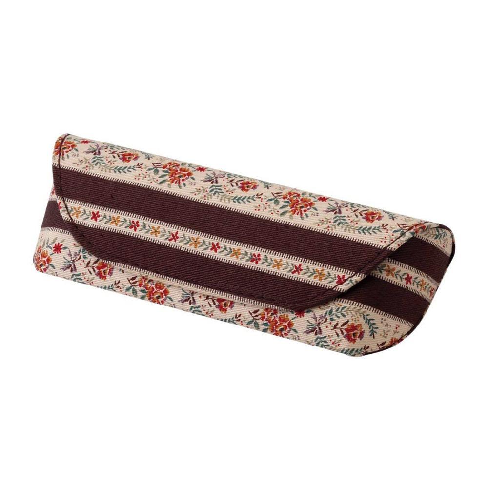 おしゃれなメガネケース メガネケース HFU-75 092366 ブラウン 当店限定販売 花柄 新色