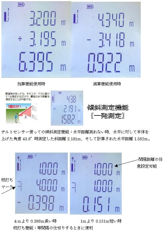 レーザー距離計 /[100m スコープ 距離測定器 計量 コンパクト 建築//測量用品 大工用 内装業者用 距離計 レーザーポインター 小型 高精度 面積//体積 ピタゴラス測定 最大//最小測定 チルトセンサー 等間隔測定 送料無料] 100 角度センサー搭載COSMO