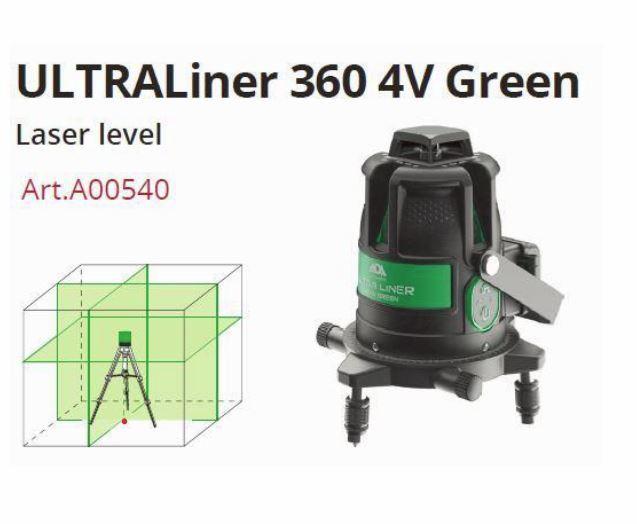 グリーンレーザー墨出し器 フルライン円錐ミラーウルトラライナー4VH360Gバッテリー仕様 受光器(別売りLR60G)対応 地墨 大矩 4V4HD レーザーレベル 墨出器 オートラインレーザー 墨出しレーザー 測定器 墨出し機 フルライン レーザー水平器 送料無料