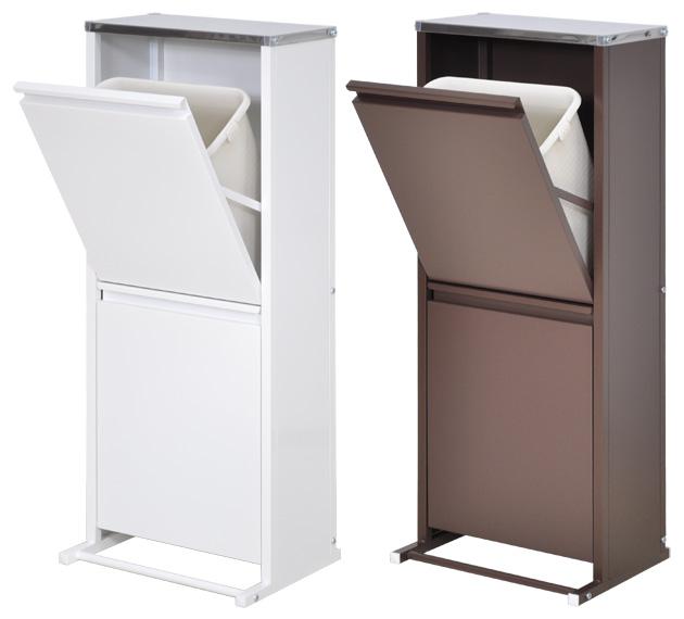 【送料無料】ステンレス天板ダストボックス横型 2分別 ■【日本製 ごみ箱 ゴミ箱】