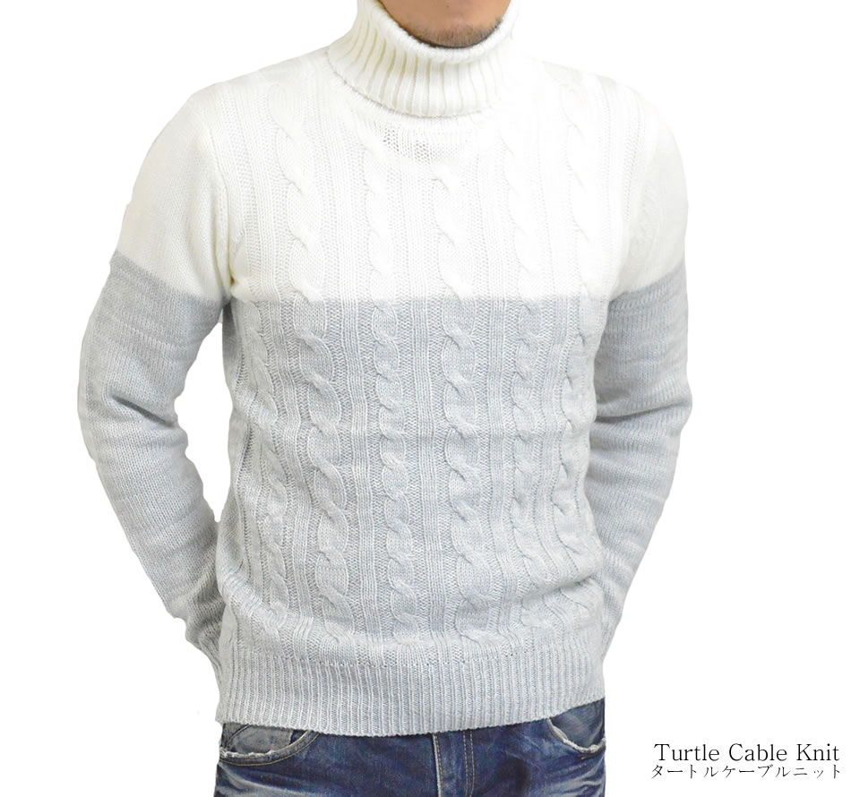 Adamas Turtleneck Cable Knit Sweater High Neck Cable Knit Mens By
