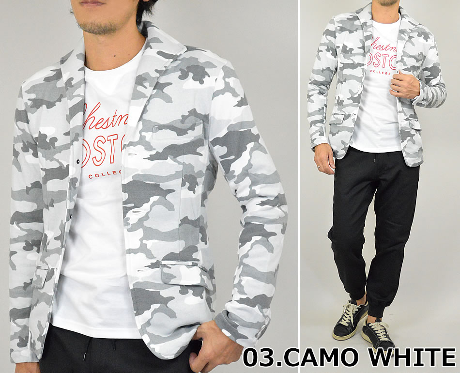 Tailored jackets sweatshirts men's Italian color three Botan the jacket sweat Blazer arrive after 10P24Oct15 back hair fall winter casual 3B Tailored jacket zipper White Navy camouflage outerwear