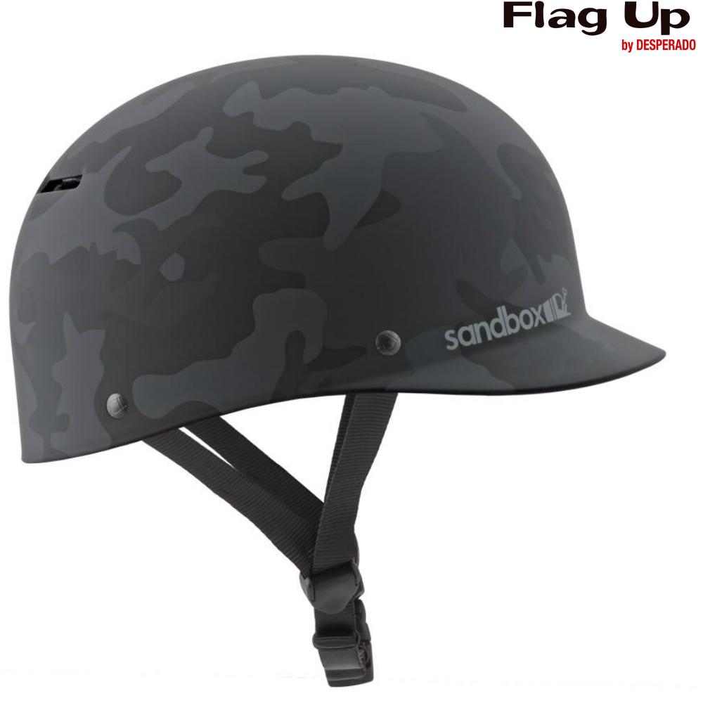 18-19 sandbox CLASSIC2.0 LOWRIDER ヘルメット スノーボード BLACK CAMO サンドボックス
