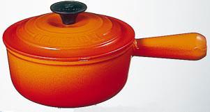 ル・クルーゼ ( LE CREUSET ルクルーゼ ) ソースパン18cm(2507-18)<オレンジ>[正規日本仕様]