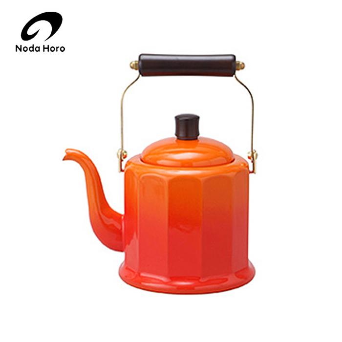 琺瑯製品でキッチンをもっと使いやすく 野田琺瑯 野田ホーロー ロイヤルクラシックケトル 2L ( IH対応 ) ( RCL-50K OR ) オレンジ のだホーロー 日本製