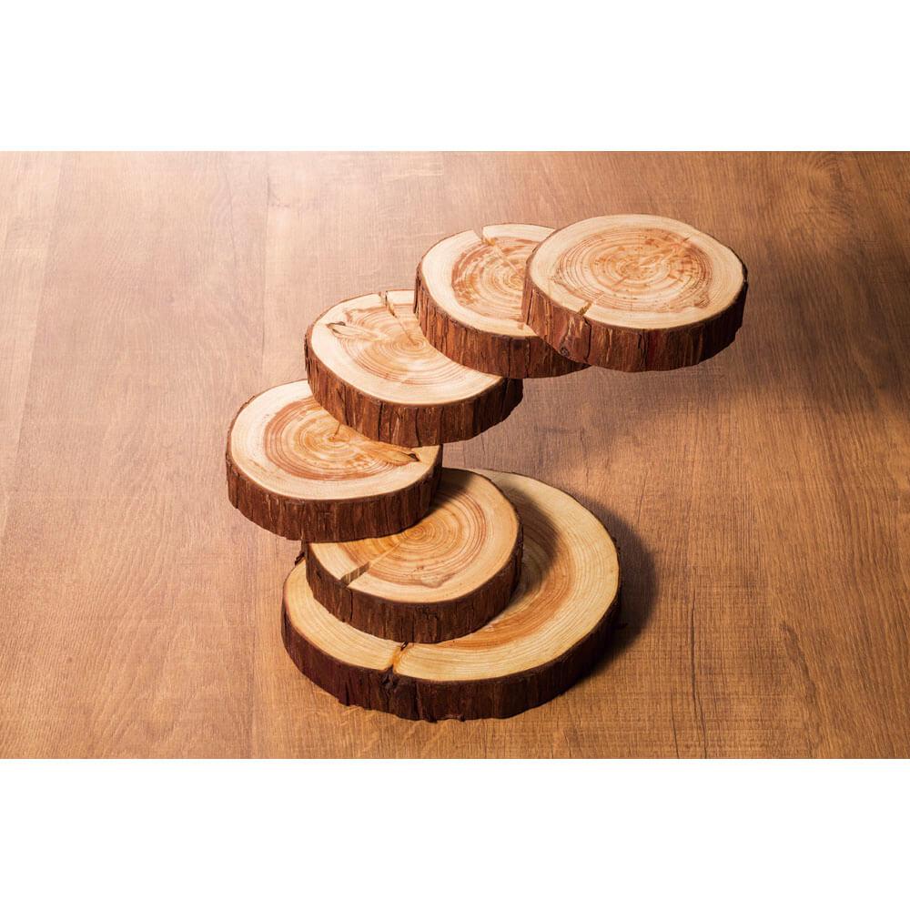 天然木 卓上 ログプレート 木製 トレイ プレート