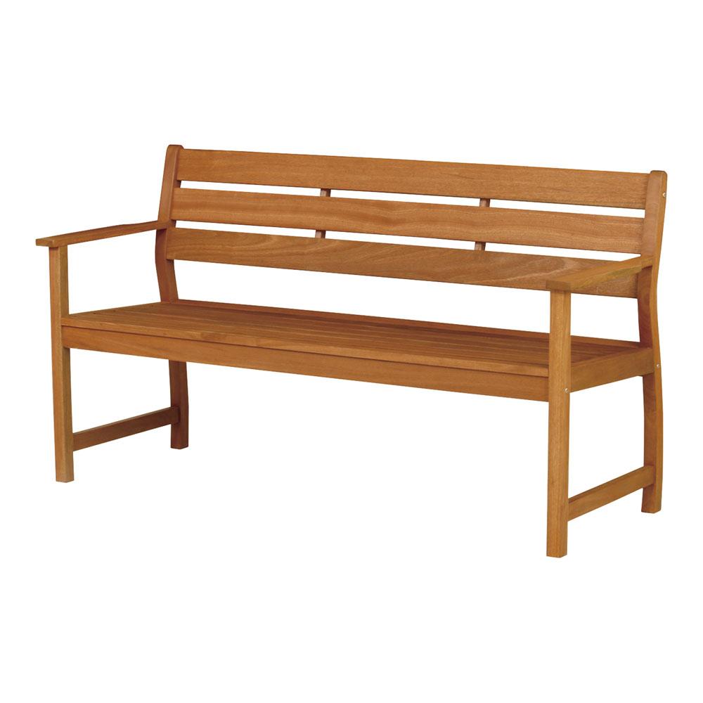 バラウベンチ 背付 MBA-1550B 天然木 チェア ベンチ 椅子 パラウッド
