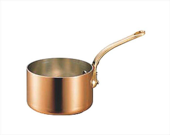 銅極厚深型片手鍋 真鍮柄 15cm