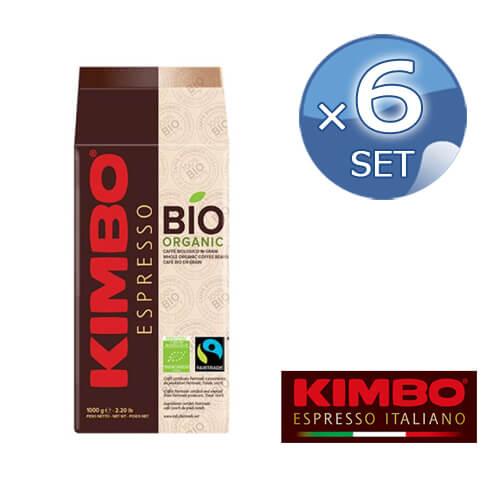 【4/10までP5倍!】キンボ エスプレッソ有機豆フェアトレードオーガニック 袋 1kg×6袋(品番003004)【 KIMBO コーヒー エスプレッソ 豆 オーガニック 】【キャンセル・返品・交換不可】