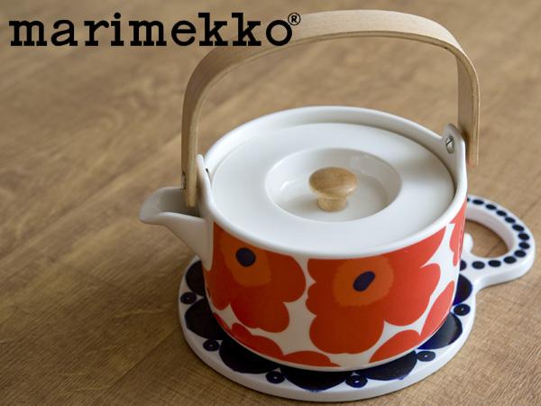 マリメッコ Marimekko ウニッコ 出荷 ティーポット フィンランド 期間限定 レッド 北欧 63435-001